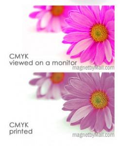 CMYK monitor vs paper