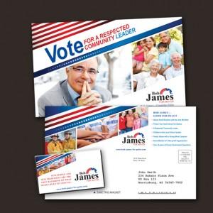 political campaign postcard designs