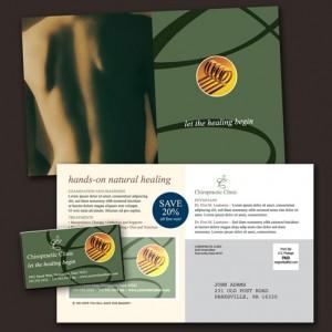 chiropractor postcard designs
